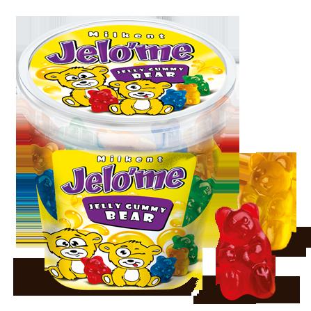 Jelo'me Meyve Aromalı Ayıcık Şekilli Yumuşak Şeker