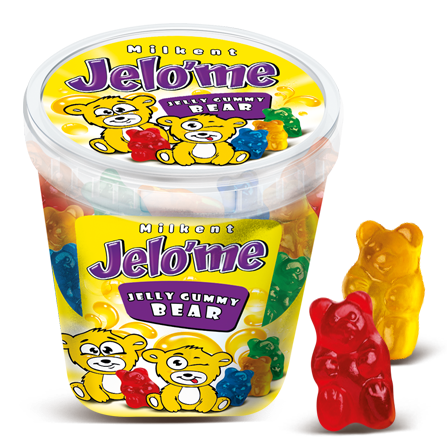 Jelo'me Fruit Flavored Gummy Bear Candy